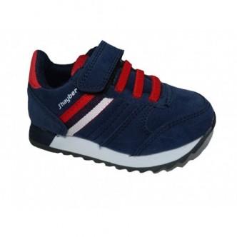Deportivas en color Azul Combinado con Rojo. J´hayber