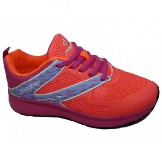 Deportivas cierre cordones en color Coral. j´hayber
