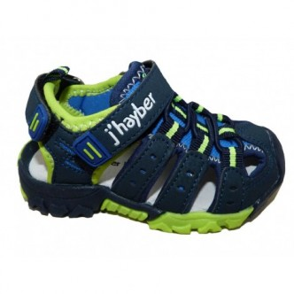 Sandalias de sport color Azul combinado con Verde.J´hayber