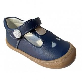 Pepitos de piel en color Azul Marino. ANDANINES.