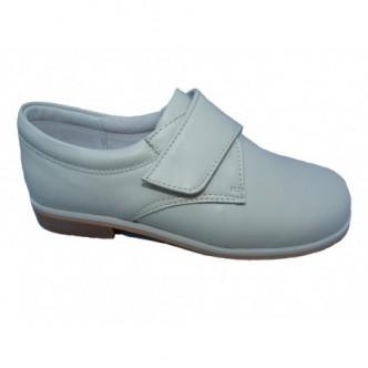 Zapatos de piel niño comunión,color Beige. BUBBLE.