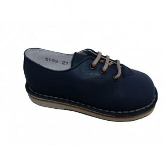Zapatos de piel en color Jeans.Barritos