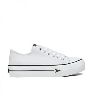 Sneakers Bay Plataforma napa Blanco. B&W