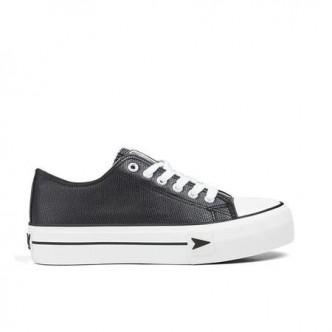Sneakers Bay Plataforma napa Negro. B&W