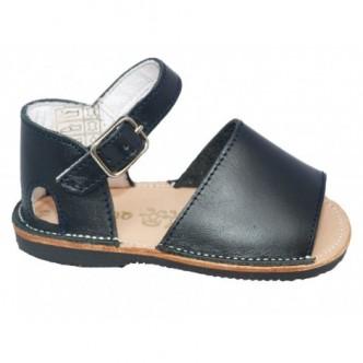 Sandalia piel azul marino preandante niño/a. QUECOS