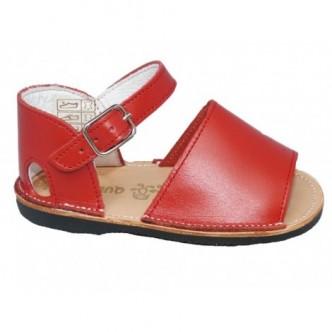 Sandalia piel niño/a color rojo.Preandante QUECOS