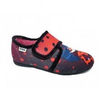 Zapatillas de casa en color Rojo combinado con negro. ZAPY
