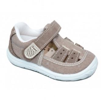 Sandalias de lona en color Taupe. ZAPY