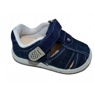 Sandalias de lona en color Tejano. ZAPY