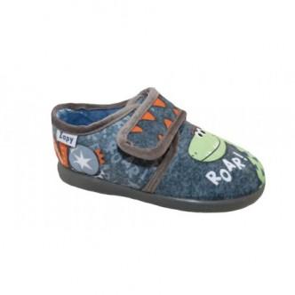 Zapatillas de casa en color Gris Marengo. ZAPY