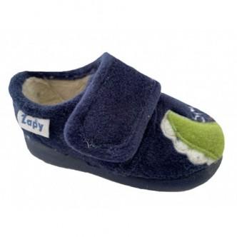 Zapatillas de casa en color Azul Marino. ZAPY