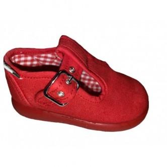 Pepitos de lona en color Rojo.ZAPY