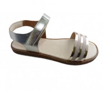 Sandalias de Piel en color Dorado.ANDANINES.
