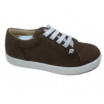 Zapatos Sport de piel ante en color Verde Militar.YOWAS