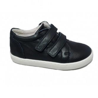 Zapatos sport piel en color Azul Marino.QUECOS