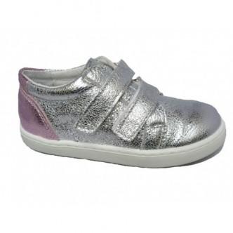 Zapatos sport piel en color Plata.QUECOS
