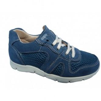 Zapatos Sport piel ante en color Iris Azul.YOWAS.